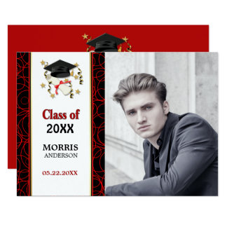 Modern Abstract Photo Graduation Party 2018 Card