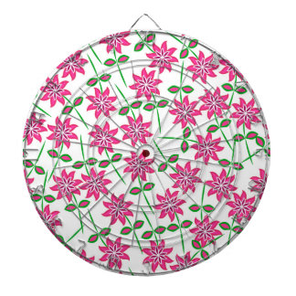 Modern abstract pink green floral pattern. dartboards