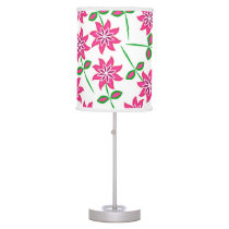 Modern abstract pink green floral pattern. table lamp