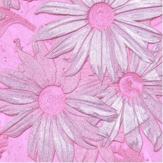 Modern abstract pink sunflower pattern. cutout