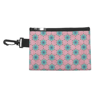 Modern abstract pink teal floral pattern. accessories bags