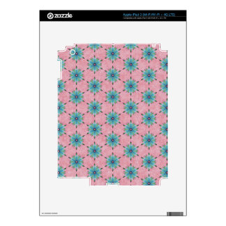 Modern abstract pink teal floral pattern. iPad 3 skin