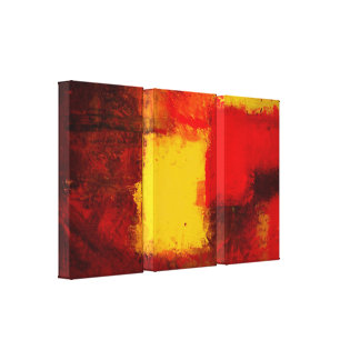 Modern Abstract Print Minimalist Wrapped Canvas