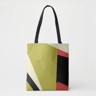 Modern Abstract Random Geometric Shapes Tote Bag