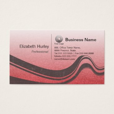 Professional Business Modern Abstract Red and Black Grunge Wave Business Card