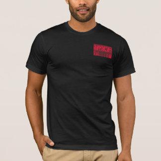 Modern Abstract Red Black Circles Lines, T-Shirt