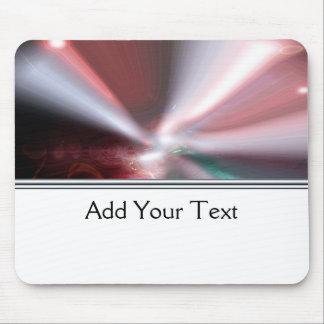 Modern Abstract Red Light Mouse Pad