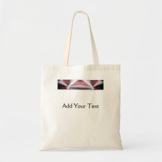 Modern Abstract Red Light Tote Bag