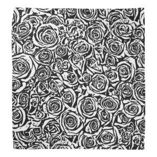 Abstract Rose Pattern Bandanas Handkerchiefs Zazzle