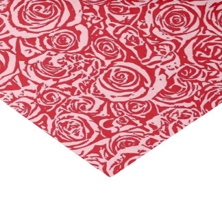 Modern Abstract Rose Pattern, Rose Red and Pink Tissue Paper
