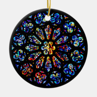 Modern/Abstract Rose Window Christmas ornament
