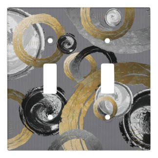 Modern Abstract Rough Circles and Rings Light Switch Cover