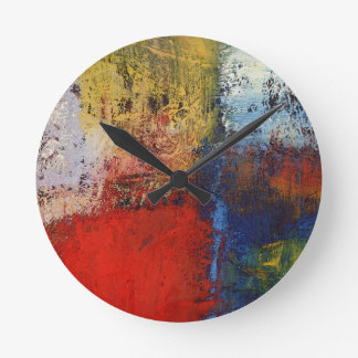 Modern Abstract Round Clock