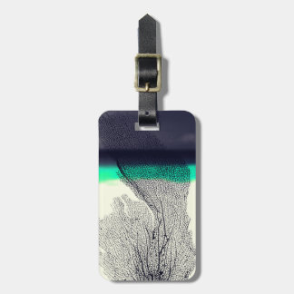 Modern Abstract Sea Coral Reef on Beach Background Bag Tag