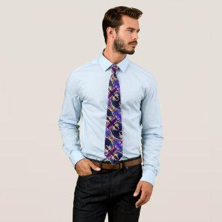 Modern Abstract Silk Floral Foulard Neck Tie