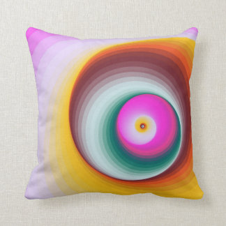 Modern Abstract Spiral Colorful Throw Pillow