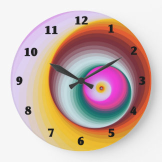 Modern Abstract Spiral Colorful Wall Clock