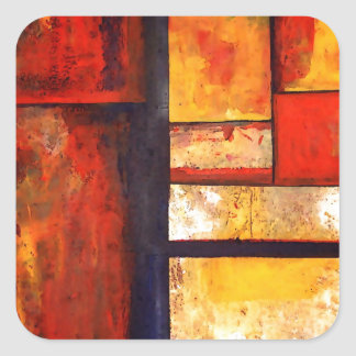 Modern Abstract Square Sticker