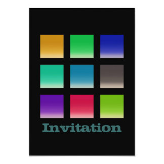 Modern Abstract Squares Pattern 5x7 Paper Invitation Card