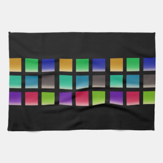 Modern Abstract Squares Pattern Kitchen Towels