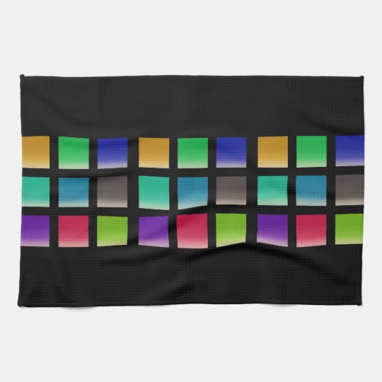 Modern Abstract Squares Pattern Towel