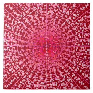 Modern Abstract Starburst, Burgundy and Pink Tile