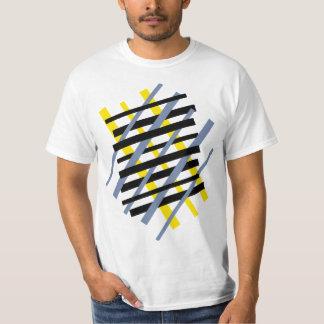 Modern abstract stripe pattern ybpgw t shirt