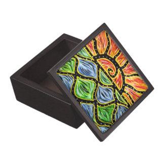 Modern Abstract Sunset Jewelry Box
