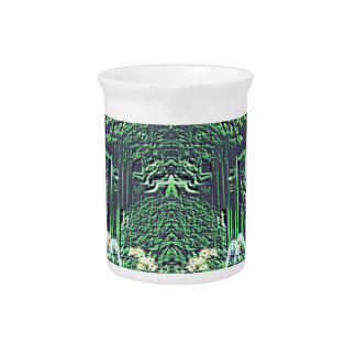 Modern Abstract teal Water Fountain Fantasy Drink Pitcher