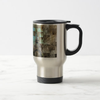 modern abstract tree landscape paris eiffel tower travel mug
