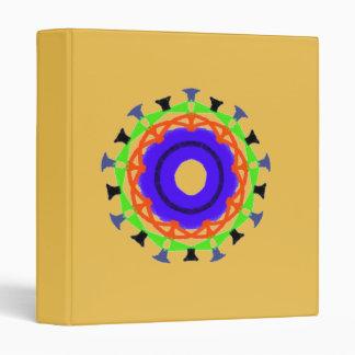 Modern abstract trendy pattern 3 ring binder