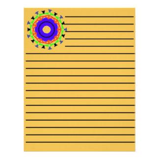 Modern abstract trendy pattern letterhead