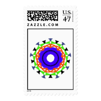 Modern abstract trendy pattern postage