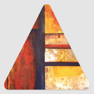 Modern Abstract Triangle Sticker
