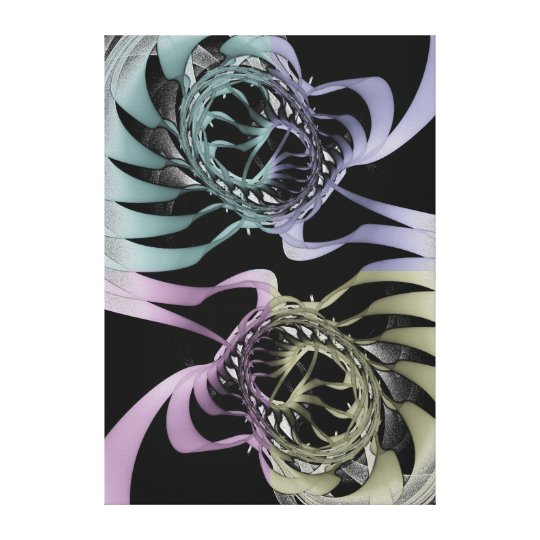 Modern abstract wallart with graphic / ink effects canvas print