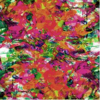 Modern abstract watercolor brushstrokes pattern statuette