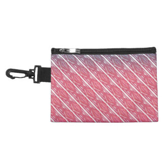 Modern abstract watercolor diamond stripes pattern accessories bag