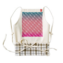 Modern abstract watercolor diamond stripes pattern zazzle HEART apron