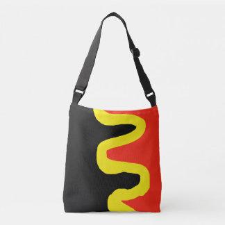 Modern Abstract Wavy Squiggle Design Crossbody Bag