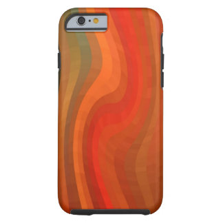 Modern Abstract Wavy Stripes Tough iPhone 6 Case