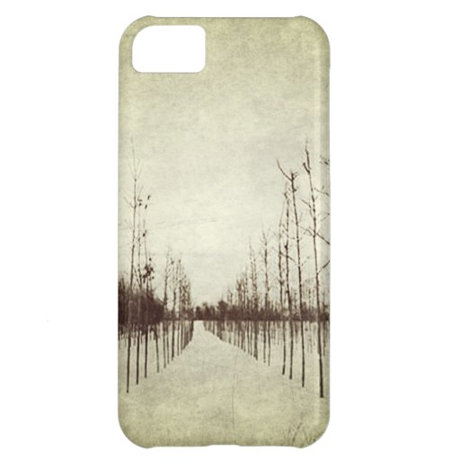 modern abstract winter landscape tree branches iPhone 5C case