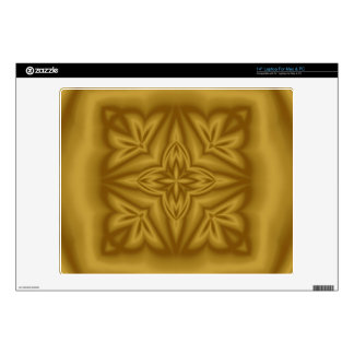 Modern abstract wood pattern decal for laptop