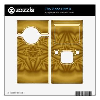 Modern abstract wood pattern flip video ultra II skin