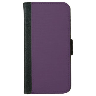 Modern  Acai Violet Fashion Trends Solid Color iPhone 6/6s Wallet Case