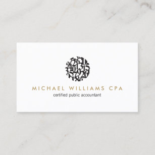 Modern Accountant Accounting Ii Business Card