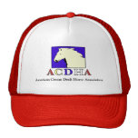 Modern ACDHA Red & White hat