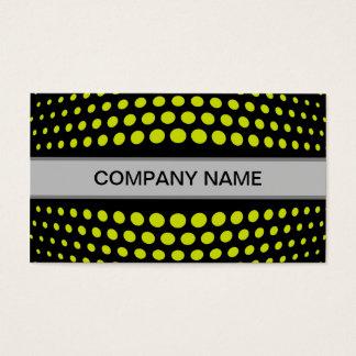 Modern Acid green Polka Dot Pattern Business Card