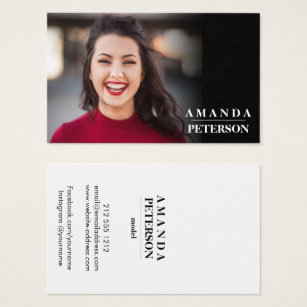 Modern Actor Models Dancer Photo Horizontal Business Card