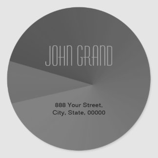Modern Address Label Round Sticker