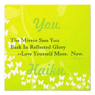 Modern Affirmation Haiku (Square) Card